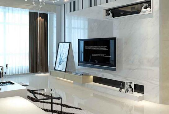 现代简约电视墙设计