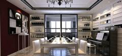 厨房推拉门与酒柜,一体化设计!