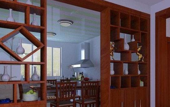 餐厅推拉门酒柜效果图-书房如何装修更安静