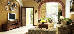 美式风格电视背景墙,充满美式风味!