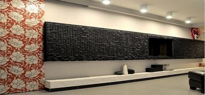黑色马赛克装修背景墙的特点