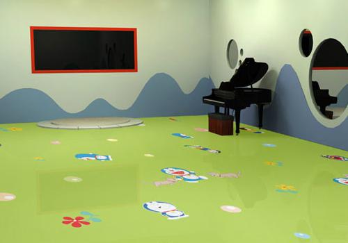 塑胶地板效果图