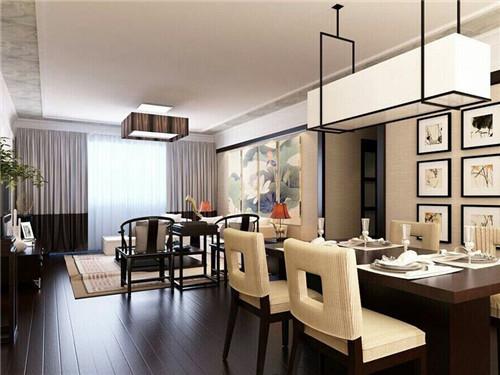 现代中式客厅装修