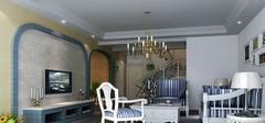 地中海风格之客厅吊顶装修效果图