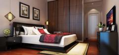 简单的壁纸打造出时尚的卧室