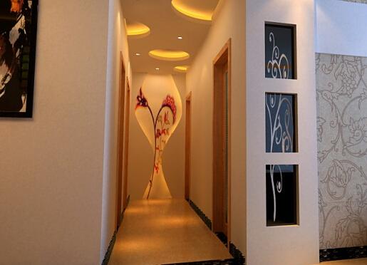3、走廊装修效果图--墙壁装饰画-走廊装修效果图,装修面面俱到图片