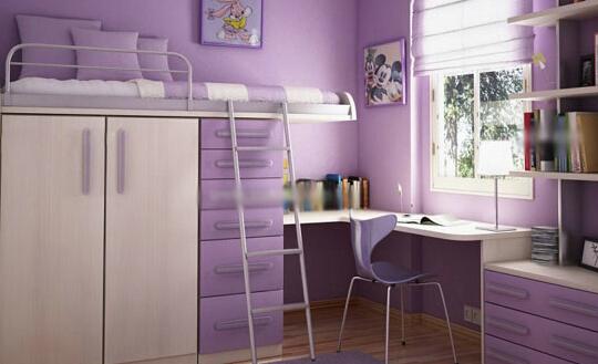 儿童衣柜书桌一体化