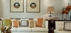 中式沙发背景墙,打造沉稳大气家居!