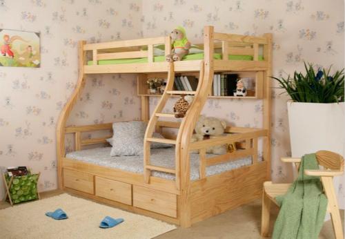 实木子母床效果图