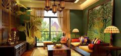 东南亚风格窗帘,感受窗边一帘幽梦!
