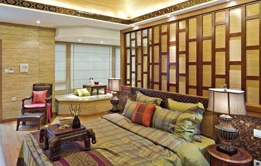 东南亚风格壁纸草编纹