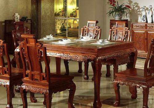 红木餐桌效果图