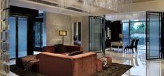 客厅玻璃隔断墙,清新透亮家居!