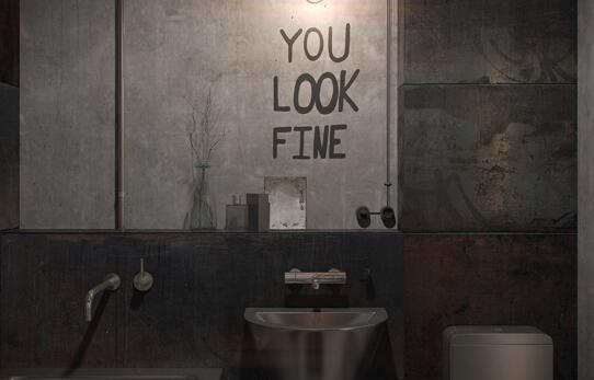 卫生间设计充满复古工业风