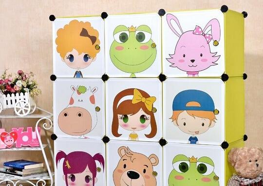 儿童卡通衣柜