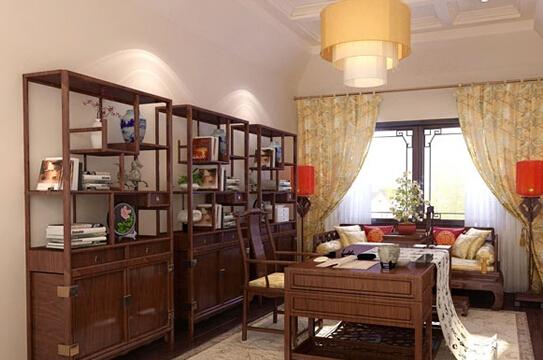 中式风格书柜