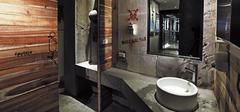 卫生间设计,充满复古工业风!