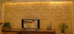 砂岩背景墙,多功能装饰石材!