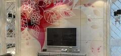 现代简约风格之电视背景墙效果图