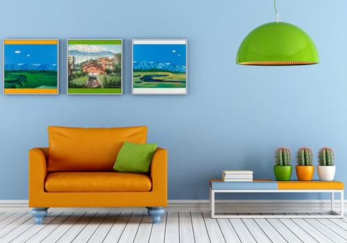 家居装饰画效果图
