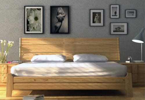 实木床效果图