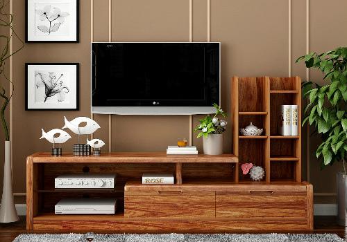 实木电视柜效果图