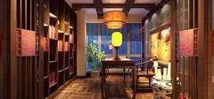中式书房家具布置,古典唯美!