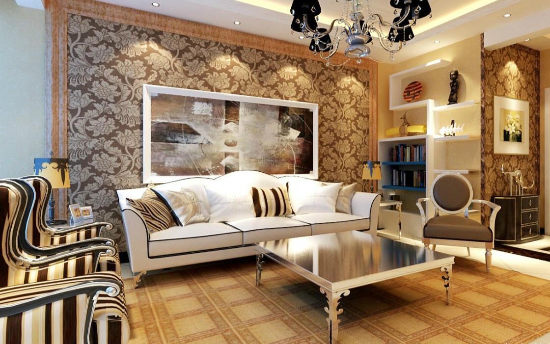 结构面分隔客厅空间图片