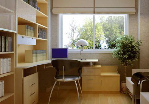 书房家具效果图