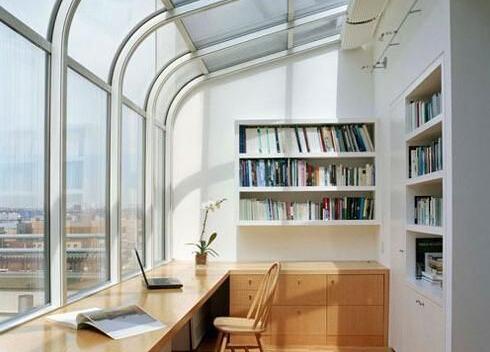 小阳台改造书房