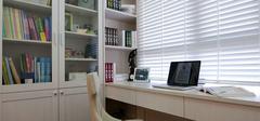 小阳台改造书房,小书房装修省空间!