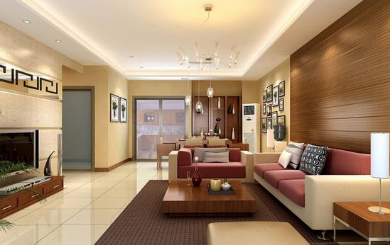 > 正文       客厅装饰有中式传统风格,客厅的布置,色调和家具的陈设