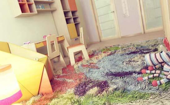 儿童房铺地毯