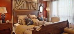 纯正美式装修,自由随意的卧室空间!