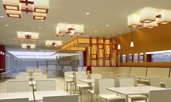 中式快餐店效果图