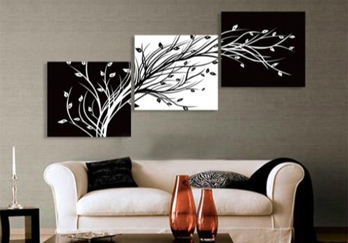黑白装饰画