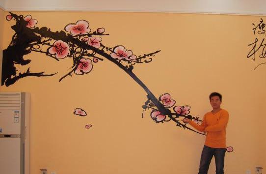 时尚墙面彩绘