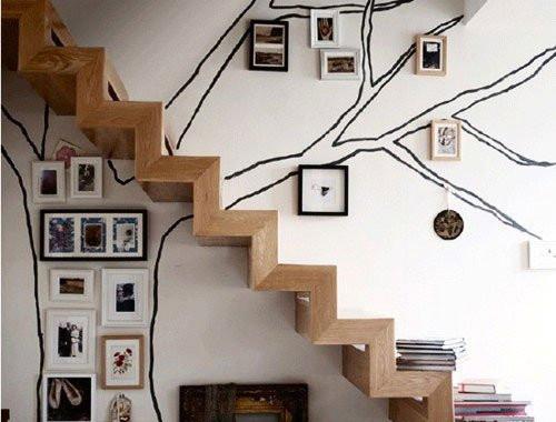 欧式客厅的楼梯设计