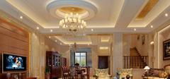 欧式风格空间,客厅吊顶设计!
