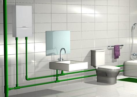 墙面水管安装
