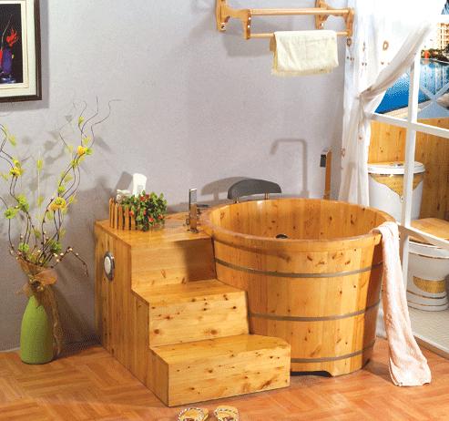 木桶浴缸效果图