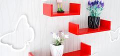 墙上置物架,创意墙面装饰!