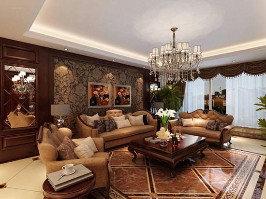 美式沙发背景墙