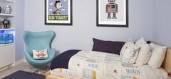 现代简约风格儿童房装修,清新小居!