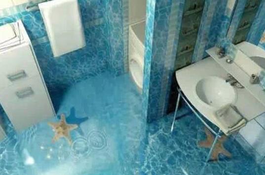 超酷炫的浴室3D效果图