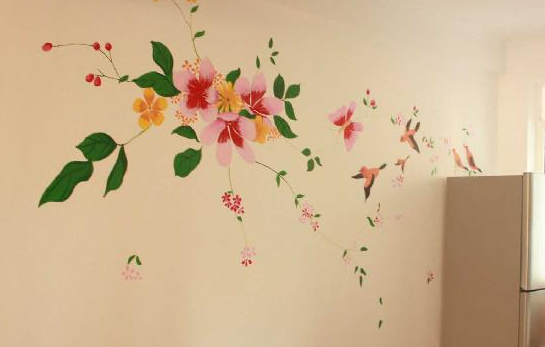 手绘墙画艺术制作