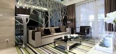 唯美后现代装修风格,夸张客厅设计!