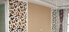 中式风格的镂空雕花板效果图