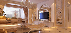 欧式客厅装修,打造奢华客厅!
