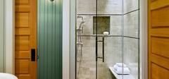 如何清洁浴室玻璃门水垢?